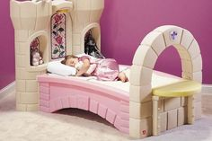 Unique Princess Toddler Beds in Pink and White