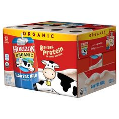 Horizon Organic Low Fat Organic Milk Box, Chocolate, 8 Ounce (Pack of -- Check this awesome product by going to the link at the image. Gourmet Food Store, Gourmet Recipes, Organic Chocolate Milk, Soya Drink, Amazon Subscribe And Save, Milk Box, 1 Milk, Vanilla Milk, Flavored Milk