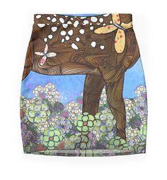 """Deer"" Pencil Skirts by Ben Geiger | Redbubble"