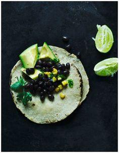 tortilla on black #food #stills #photography