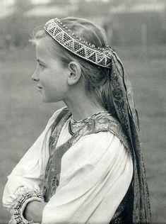 Slovak-folk-costumes: photo by Karol Plicka Bratislava, Girl Photography, Amazing Photography, Heart Of Europe, Folk Costume, Costumes, Portraits, People Of The World, Fashion History