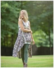 Boho Hi-Lo Floral print Vest