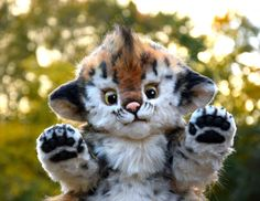 Saber-toothed tiger by GakmanCreatures on Etsy