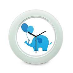 BigOwl   Blue Elephant Illustration  Table Clock Online India at BigOwl.in