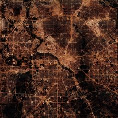 Dallas, Texas at Night: Satellite art of Dallas Lights at Night - City Prints Map Art