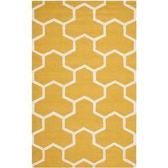 Safavieh Handmade Moroccan Cambridge Gold/ Ivory Wool Rug (5' x 8') #Safavieh #Contemporary