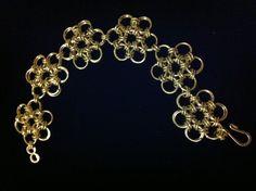 Daisy chain maille bracelet