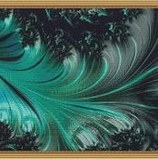 Ocean Dance Fractal Cross Stitch - via @Craftsy