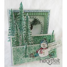 Heartfelt Creations - Snowman And Trees Flip Fold Card Project