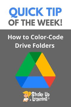 Wondering how to color-code Google Drive folders? Check out this quick tip of the week to learn how! Free Teaching Resources, Teaching Tools, Teacher Resources, Mobile Learning, To Color, Google Classroom, Educational Technology, Google Drive, Shake