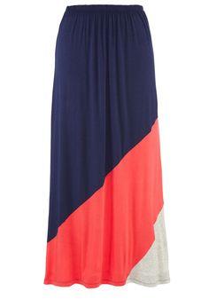 Plus Size Colorblock Stripe Maxi Skirt image