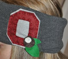 Upcycled Ohio State Buckeyes Ear Warmer by FeatherWeathers on Etsy, $14.00
