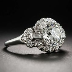 1.66 Carat Art Deco Diamond Engagement Ring, ca. 1920s