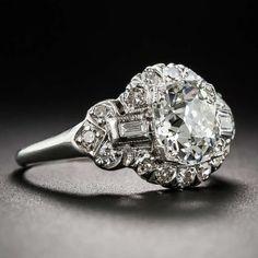 1.66 Carat Art Deco Diamond Engagement Ring, ca. 1920s