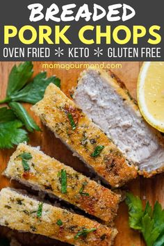 Breaded Oven Pork Chops has a crispy breading thanks to a savory mixture of almond flour and parmesan. Now you can enjoy and oven-fried gluten-free pork chops recipe that are also low carb and keto-friendly!