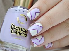 Nailstorming - En Amoureux/ses  - Dance Legend 1046 - graphic nails - striping tape