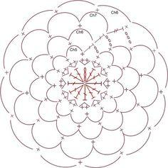 flor+con+petalos+de+crochet+tutorial1.jpg (597×600)