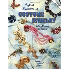 Signed Beauties Of Costume Jewelry: Identification & Values Vintage Costume Jewelry, Vintage Costumes, Vintage Jewelry, Vintage Books, Retro Vintage, Vintage Items, Precious Metal Clay, The Ordinary, Diy Design