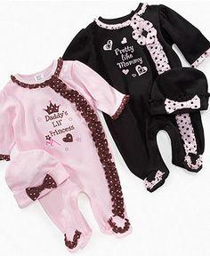 Baby Essentials Baby Sets, Baby Girls Footies with Hat Sets - Kids Newborn Shop - Macy's