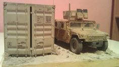 """""""On patrol"""" Kandahar 2012 / Afghanistan 1:35 Scale  Slovak Force Protection Coy on patrol, M1151 U.S. Enhanced Armament Carrier with PKMB 7,62 mm MG, Kandahar Airfield / Afghanistan 2012"""