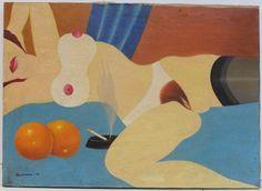 """Woman with Orange"" by Tom Wesselmann"