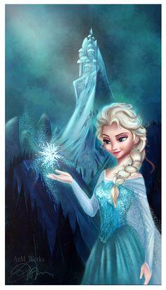 """Elsa from the movie """"Frozen"""" last masterpiece from Disney. One of my Fan art, Elsa Frozen Frozen Disney, Elsa Frozen, Walt Disney, Frozen Queen, Frozen Art, Queen Elsa, Disney Magic, Frozen 2013, Elsa Elsa"""