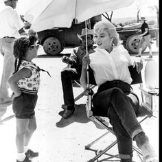 Marilyn on location
