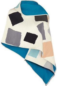 Balenciaga   Printed wool and silk-blend scarf   NET-A-PORTER.COM