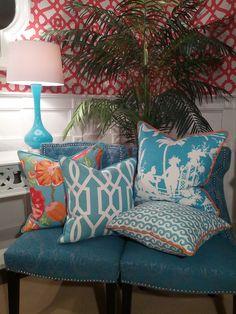 - Palm Beach  - and their pillows from Thibaut!!!!