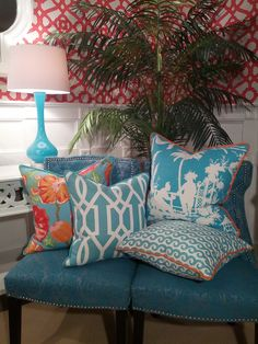 - Palm Beach  - and their pillows from Thibaut!!!!