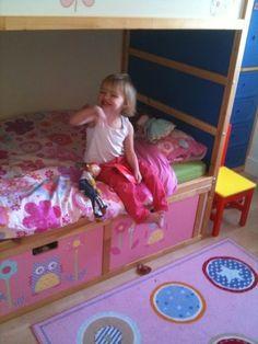 KURA Bunk Beds with STUVA storage