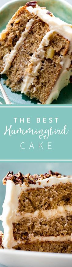 Exceptionally moist and flavorful hummingbird cake with 3 delicious layers and silky cream cheese frosting! Recipe on sallysbakingaddiction.com