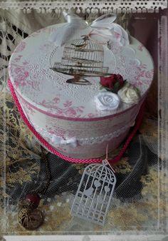 Boîte ronde, romantique,boîte mariage ronde,urne mariage
