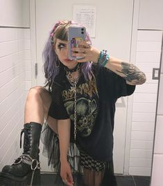 Grunge Outfits, Edgy Outfits, Cool Outfits, Fashion Outfits, Alternative Mode, Alternative Outfits, Alternative Fashion, Grunge Look, Grunge Style