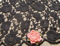 Hey, I found this really awesome Etsy listing at https://www.etsy.com/listing/77150351/lace-fabric-3d-rose-crochet-embroidery