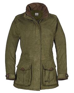 Musto Ladies Whisper Gore-Tex Jacket Size 8 in Moss Allcocks Outdoor Store- lovely ww2 dispatch riders coat leather details!