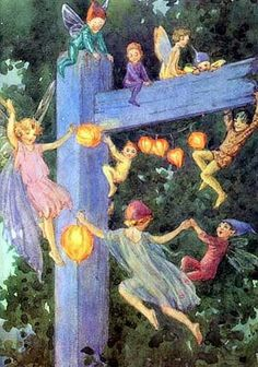 A Polar Bear's Tale: Fairies and elves love Japanese lanterns...