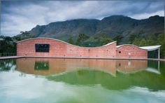 Designed by the winery's founder, Christoph Dornier, this South African winery is meant to blend in with its surroundings. Caves, Wine Vineyards, South Of Spain, Wine Deals, Vitis Vinifera, In Vino Veritas, Garden Club, Italian Wine, World's Most Beautiful