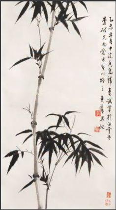 Четверо Благородныых (Четыре Джентельмена) в китайской и японской живописи - Бамбук