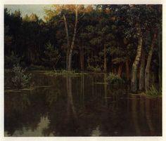 Затопленный лес. Из цикла «Пейзажи Молдавии», 1969 год.