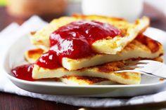 Rahkapannukakku - Suklaapossu Food N, Food And Drink, Griddle Cakes, Mille Crepe, Healthy Baking, Crepes, Pancakes, Nom Nom, Sweet Tooth