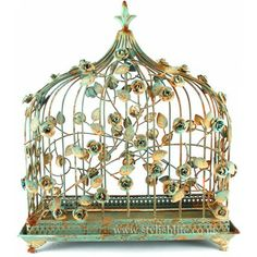 The bird cage is equally a home for the chickens and an attractive tool. You are able to choose what you may want among the bird cage designs and get a whole lot more specific images. Vintage Birds, Vintage Birdcage, Birdcage Decor, Antique Bird Cages, The Caged Bird Sings, Boutique Vintage, Flower Fashion, Versailles, Bird Feathers