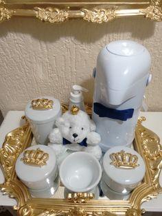 Amei!! Amei!! Amei!!  Linda escolha da mamãe para a decoração do quarto!!  Kit higiene e quadro com espelho e nome !!  Direto para Maceió!!...
