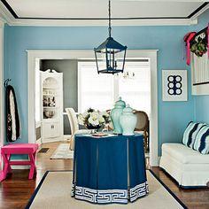 "First Impression Foyer, Tobi Fairley client design via Fairley's ""InBox Interiors""  (e-design)"
