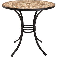Terracotta Mosaic Table 2 Chairs M&S ($425) ❤ liked on Polyvore featuring home, furniture, chairs and mosaic furniture