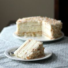 Coconut sponge cake, whipped cream coconut filling, and coconut cream cheese buttercream make this cake a coconut lover's dream!