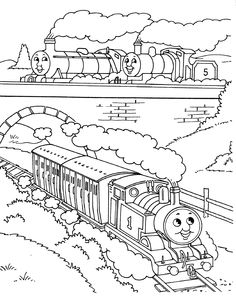 Thomas The Train And His Friends Coloring Pages · Thomas The Train ...