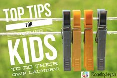Tips and tricks for getting your kids to help out with laundry! Home Economics, Family Life, Teaching Kids, Laundry, Sorting, Tips, Parenting, School, Clothing