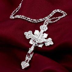 >> Click to Buy << Men Women Luxury Cross Jesus Charms Pendant Vintage Long Chain Necklace S239 #Affiliate