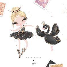 #ballerina #babygirl #birthdayparty #girlmom #nurserydecor #illustration #children #planneraddict #textiledesign #fabric #surfacedesign #surfacepattern #swanlake #swan